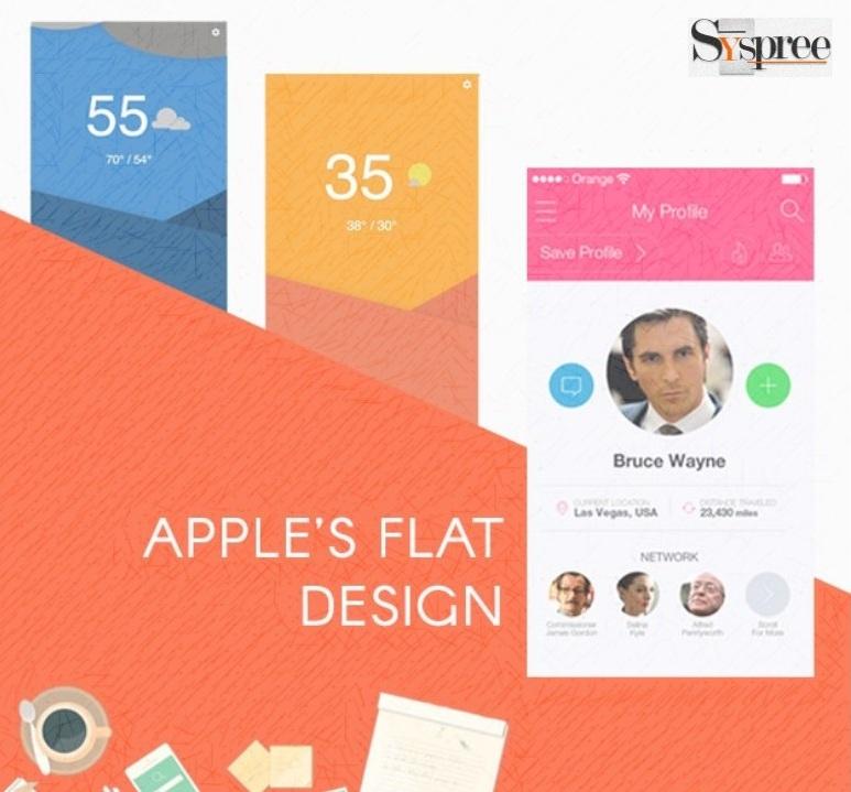 Flat design by web designing services in Mumbai