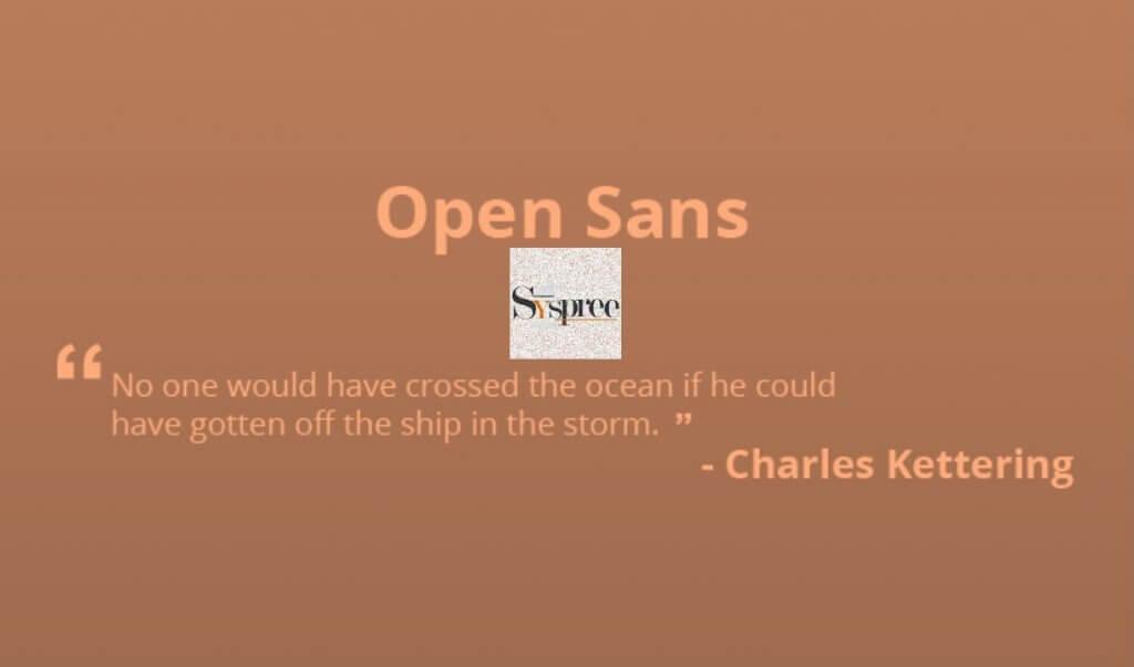 Open Sans by Web Designing Company in Mumbai