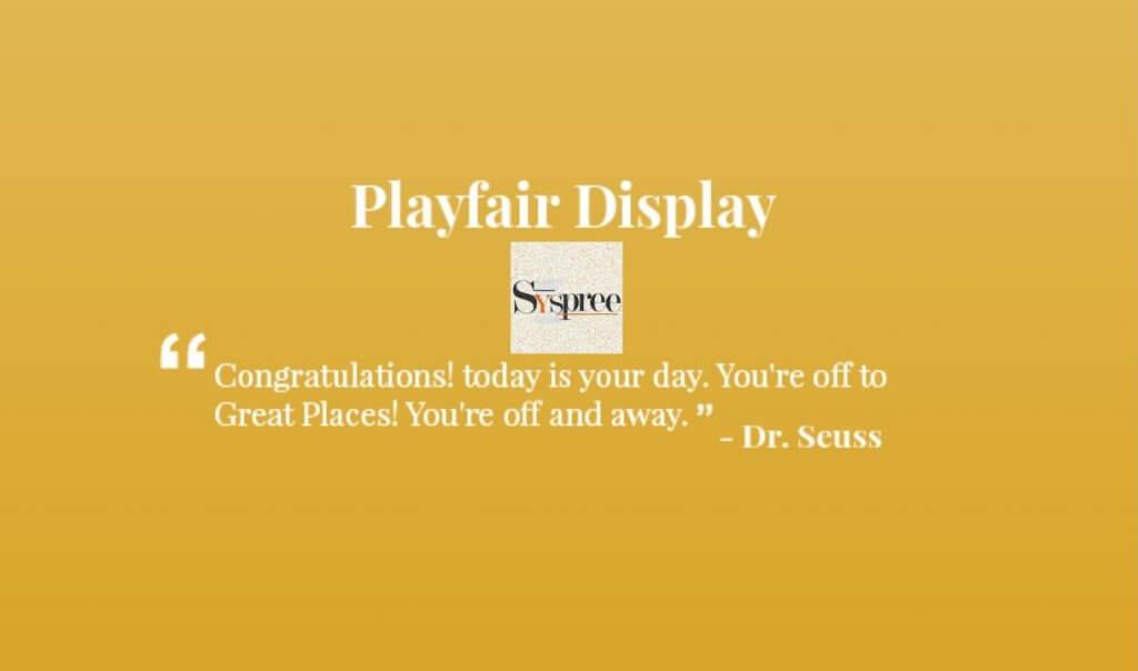 Playfair Display by Web Designing Company in Mumbai