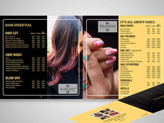 Menu-card designing graphic designing by SySpree best website designing company in Mumbai and best graphic design company in Mumbai