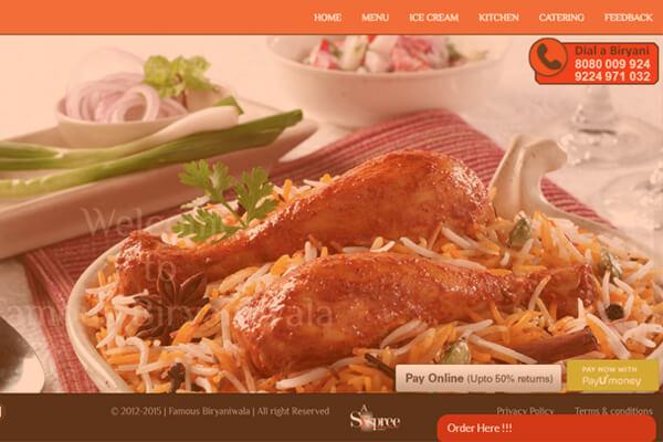 Digital Marketing company in Mumbai SYSpree client Famous Biryaniwala