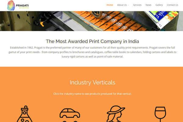 Web Designing company in Mumbai SYSpree client Pragati