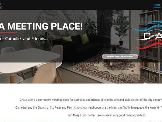 Web Designing and web development company in Mumbai SySpree client cana catholic center page