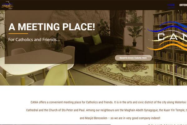 Web Designing company in Mumbai SYSpree client CANA Singapore