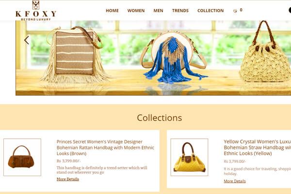 Web designing company in Mumbai client K Foxy