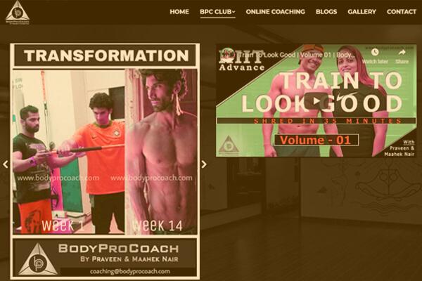 Web designing company in Mumbai client Body Pro Coach
