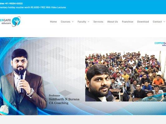 web designing company in Mumbai SYSpree Client Coppergate educare