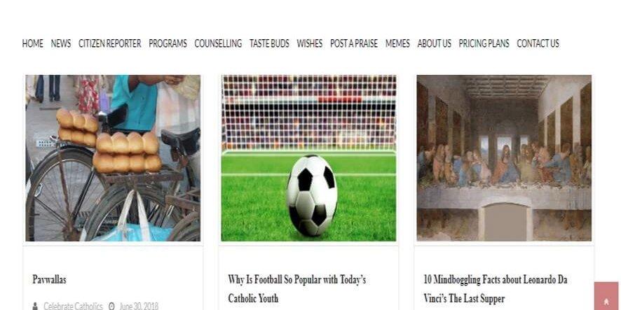 web development company in Mumbai SySpree client Celebrate Catholics